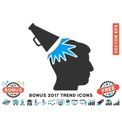 Megaphone Impact Head Flat Icon With 2017 Bonus vector