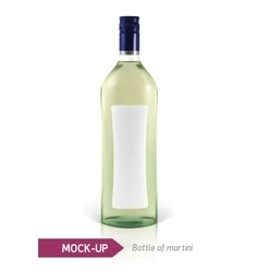 Mockup martini bottle vector image