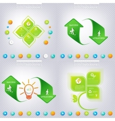 Modern green infographic design Business concept vector image