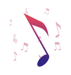 music notes melody symbol background vector image