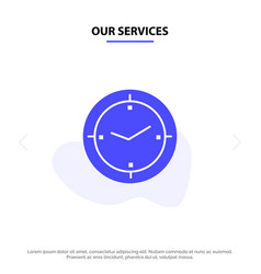 Our services time timer compass machine solid vector
