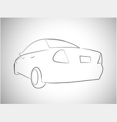 outlines of sport car back view vector image