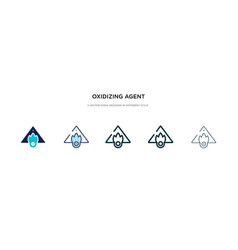 Oxidizing agent icon in different style two vector