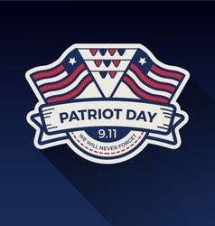 Patriot day badge logo design vector