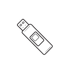 pendrive hand drawn outline doodle icon vector image