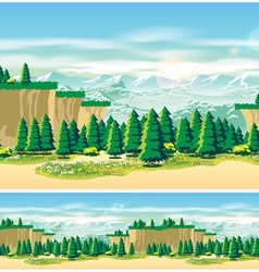 Picturesque valley vector