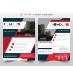 red black abstract brochure annual report flyer vector image