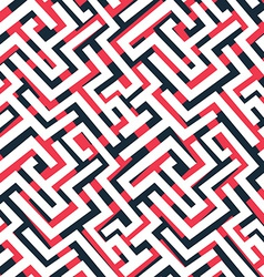 Red maze pattern vector