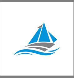 sail logo sail icon logo design vector image