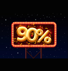 sale 90 off ballon number on night sky vector image