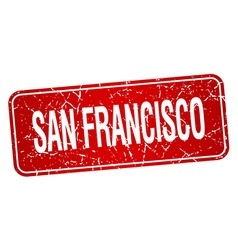 San Francisco red stamp isolated on white vector