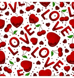 seamless background st valentines day vector image