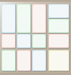 Set of templetes of pages checkered paper vector