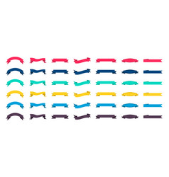Set ribbon banners labels and flags for sale vector