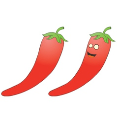 Smiling chilli pepper vector image