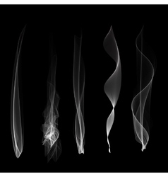Smoke background steam isgenerated vector image vector image