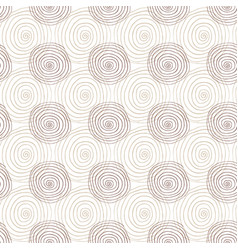 spiral seamless pattern in beige color repeating vector image