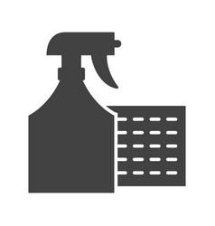 sprayer with cloth vector image