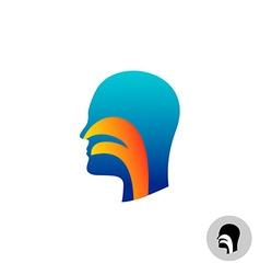throat silhouette vector image
