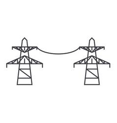 transmission lines line icon concept transmission vector image