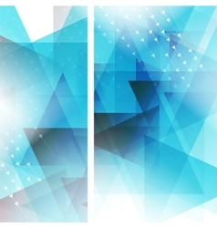 Triangle geometric background vector