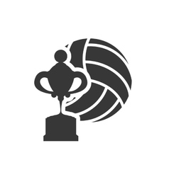 trophy volleyball sport design vector image