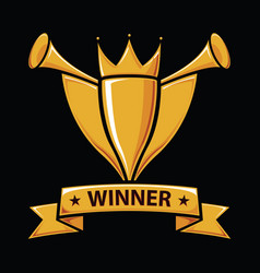 winners trophy award vector image
