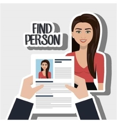 Woman find person hands vector
