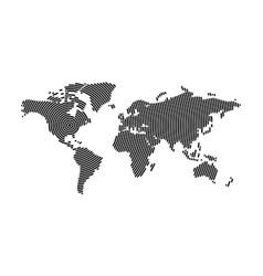 World map modern design vector