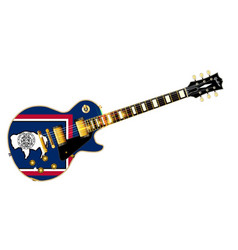 Wyoming state flag guitar vector