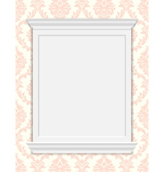 vintage frame moldings on retro wallpaper vector image