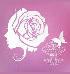 beautiful woman face fashion icon vector image
