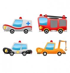 cartoon vehicles vector image