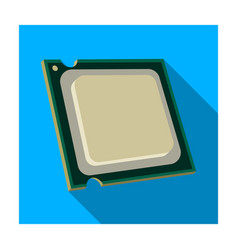 central processing unit icon in flat style vector image