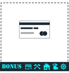 Credit card icon flat vector