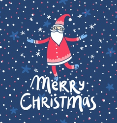 Merry Christmas Santa Claus greetings vector image vector image
