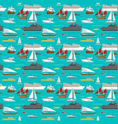 sea transport pattern vector image