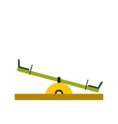 Seesaw icon flat vector image vector image
