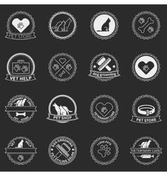 Set of dog ans cats logos and badges vector image