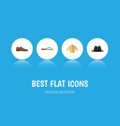 flat icon dress set of male footware banyan vector image vector image