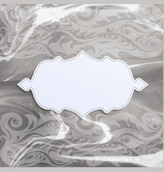 frame on watercolor background vector image vector image