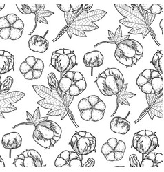 graphic cotton pattern vector image vector image