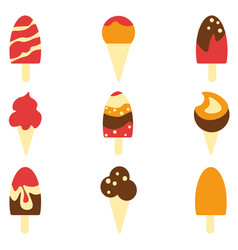 ice-cream background seamless pattern vector image