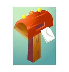 icon post box vector image vector image