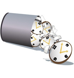 Stop wasting time vector image vector image