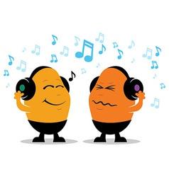 Headphone Music Cartoon vector image