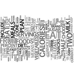 loose weight fast diet plan text background word vector image