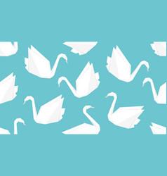 origami crane bird seamless pattern vector image