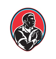 retro rugby icon vector image