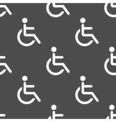 Wheelchair seamless pattern vector